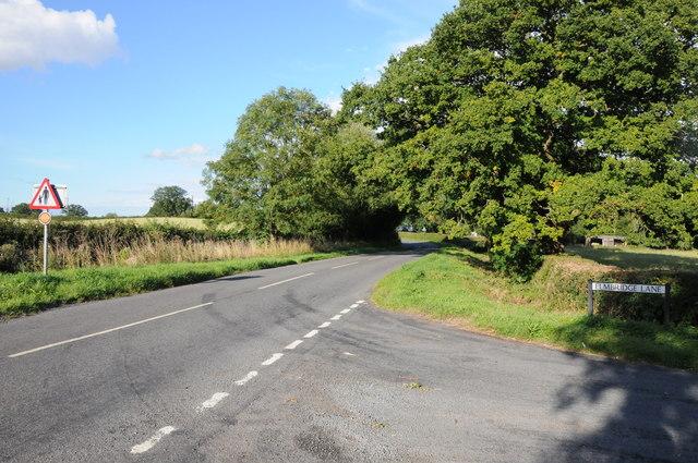 Road junction near Rushock