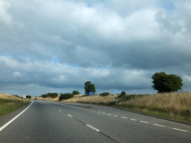 Lay-by, westbound, on A361 on Beaple's Moor