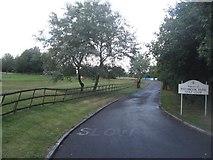 SU6154 : Weybrook Park driveway by Sandy B