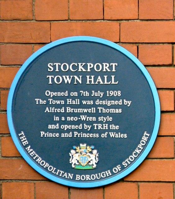 Photo of George V blue plaque