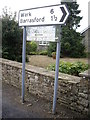 NY9371 : Junction signpost in Chollerton by Stanley Howe