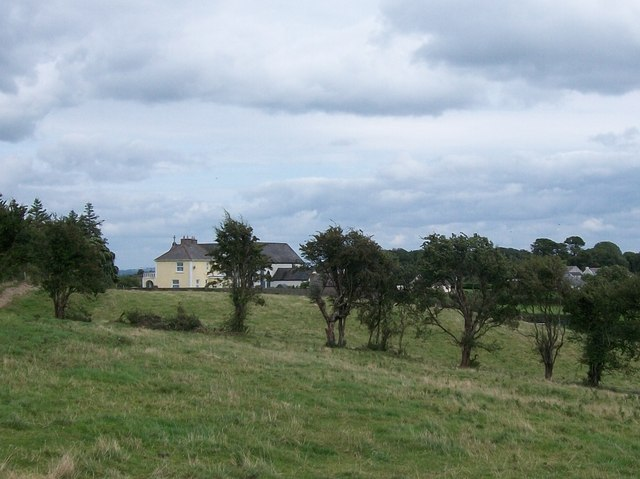 View eastwards towards Clonfinlough Chapel and Parochial House