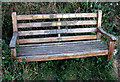 ST3107 : Dog lovers' bench near Chard by Vieve Forward