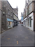 HU4741 : Lerwick: errant yellow lines in Commercial Street by Chris Downer