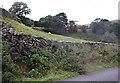 NY6001 : Minor road past Borrowbridge Roman Fort by Roger Templeman