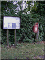 TM1284 : Village Notice Board & The Heywood Postbox by Adrian Cable