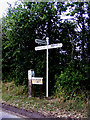 TM1285 : Roadsign on Heywood Road by Adrian Cable