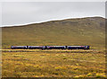 NN3566 : Train approaching Corrour Station by William Starkey