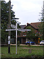 TM1384 : Roadsign on Hall Road by Adrian Cable