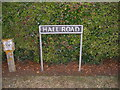 TM1384 : Hall Road sign by Adrian Cable