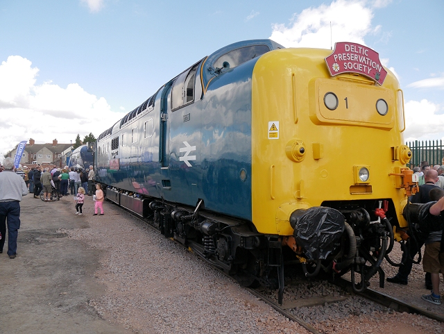 Deltic 55019 (Royal Highland Fusilier at Grantham)