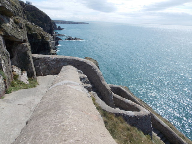 South Stack: zigging and zagging on the way down