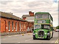 SK9135 : Bristol Lodekka passing Grantham Station by David Dixon