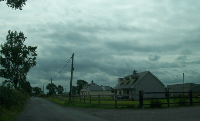 Bungalows on the Belmont Road at Mough, Co Offaly