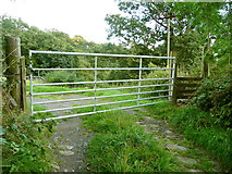SE0026 : Gate and stile on Hebden Royd FP19 by Humphrey Bolton