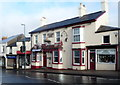 SO6514 : Golden Lion decorated for Christmas in Cinderford by Jaggery