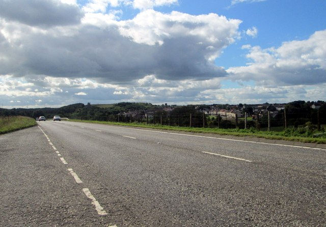 The A71 heading south-west