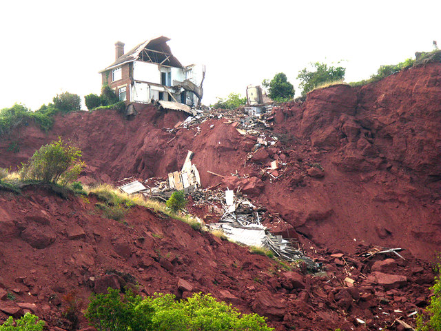 Collapsing house at Oddicombe