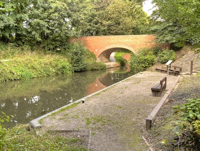 Harlaxton Wharf and Bridge, Grantham Canal