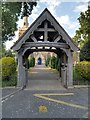 SK8736 : Lychgate, All Saints' Church by David Dixon