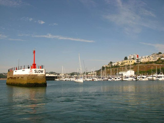 Entrance to Torquay Harbour