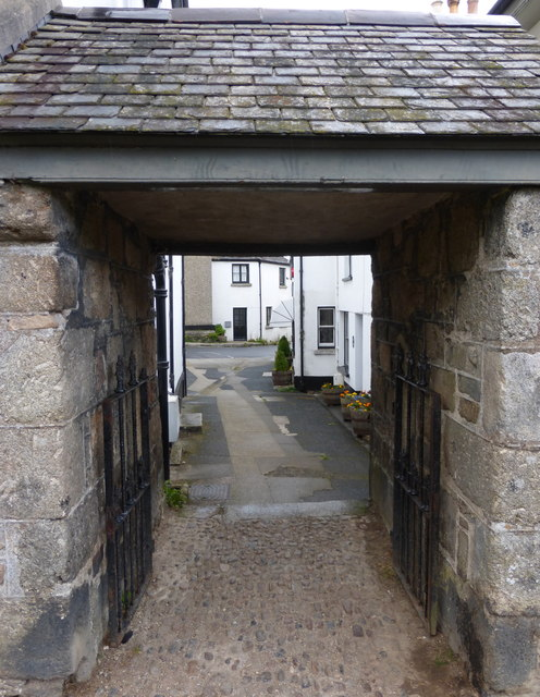 Gate leading from the church of St. Michael the Archangel, Chagford