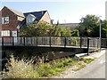 SK9235 : Footbridge, River Witham by David Dixon