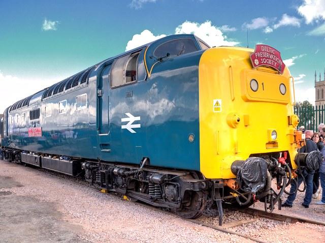 "Deltic ""Royal Highland Fusilier"" at Grantham Festival of Steam"
