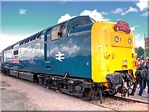 """SK9135 : Deltic """"Royal Highland Fusilier"""" at Grantham Festival of Steam by David Dixon"""