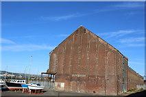 NS2975 : Former Sugar Warehouses, James Watt Dock, Greenock by Leslie Barrie