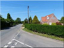 TF5617 : House along Church Road by Mat Fascione