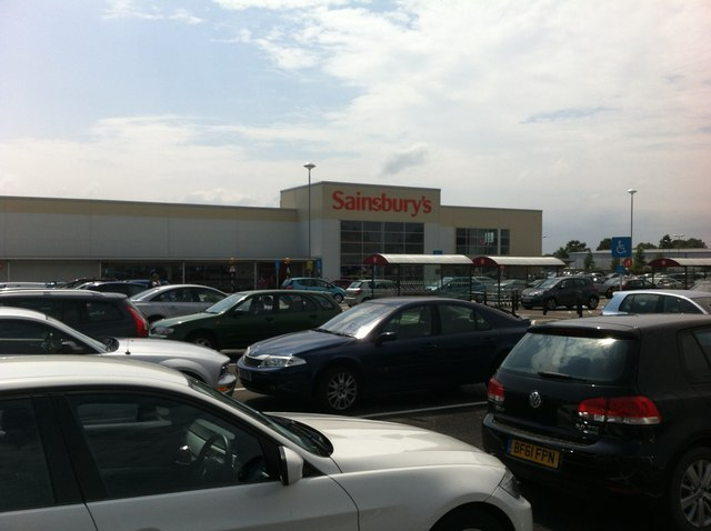 Car park at Sainsbury's in Derby