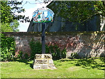 TF5617 : Tilney All Saints village sign by Mat Fascione