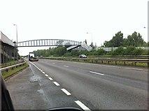 SK1831 : A50 westbound at the Foston footbridge by Darrin Antrobus