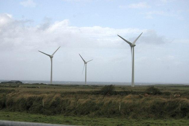 Wind turbines near Lackan