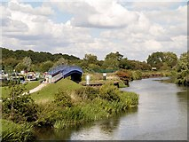 SK7954 : River Trent, King's Marina Bridge by David Dixon
