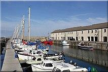 NJ2371 : A yachting marina at Lossiemouth by Walter Baxter