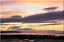 NJ2270 : Lossiemouth West Beach at sunset by Walter Baxter
