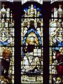 SK7953 : Newbold Memorial Window Detail - Christ by David Dixon