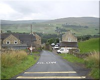 NY9038 : Entering Westgate off Scutterhill Bank by Stanley Howe