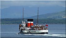 NS2876 : Paddle steamer Waverley leaving Greenock by Thomas Nugent