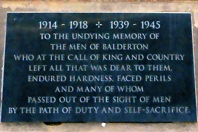 War Memorial Plaque Dedication, Balderton