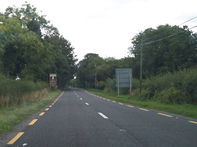 The N52 at the Westmeath-Meath County Border