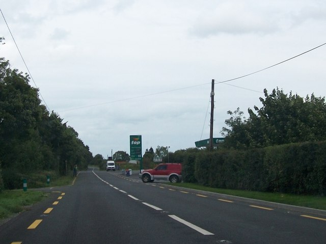 Approaching the Top Service Station at Cloncat on the N52