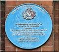 SJ9295 : Blue Plaque: Charter of Friendship by Gerald England