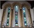 SU8403 : St Mary's, Apuldram - Triple lancet window by Rob Farrow