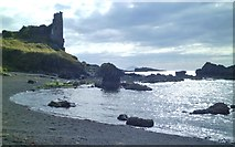 NS2515 : Dunure beach and castle by Gordon Hatton