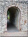 SU8604 : Chichester city walls - Archway passage by Rob Farrow