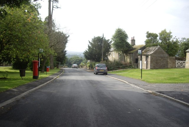 Post box and Bus stop, Eggleston