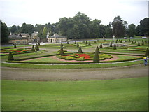 NZ0516 : Parterre garden, Bowes Museum by Stanley Howe